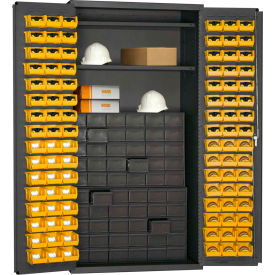 3501-DLP-60DR11-96-2S-95 Durham Small Parts Storage Cabinet 501-DLP-60DR11-96-2S-95 - w/60 drawers, 96 Small Bins, 2 Shelves