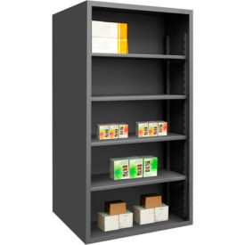 "durham 5015-4s-95 extra heavy duty/enclosed shelving 48"" x 24"" x 72"", 4 shelf, gray"