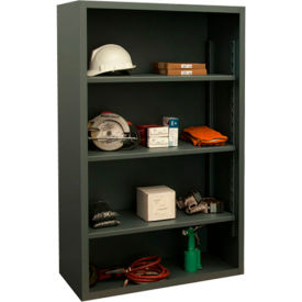 "durham 5018-3s-95 extra heavy duty/enclosed shelving 60"" x 24"" x 60"", 3 shelf, gray"