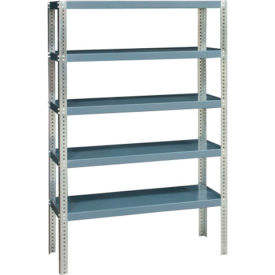 "durham hds-244872-95 extra heavy duty/open shelving 48"" x 24"" x 72"", 5 shelf, gray"