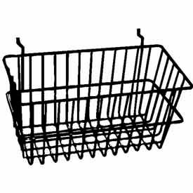 "BSK17/B 12""W X 6""D X 6""H Narrow Basket - Semi-Gloss Black"
