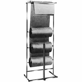 K30 3 Roll Polyethylene Horizontal Dispensing Rack - Square Tubing - Chrome