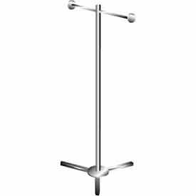 K39 Shopping Bag Rack w/ 2 Arms - Chrome