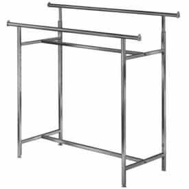 K40 Adjustable Double Rail Clothes Rack (K40)- Chrome