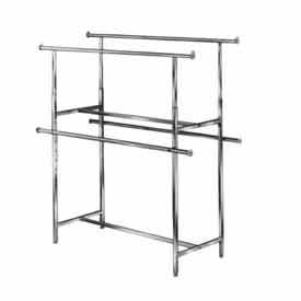 KH2 Clamp-On Hangrail For Double Bar Garment Racks K40 And K41 - Chrome