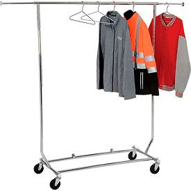 RCS/1 Salesmans Collapsible Portable Clothing Rack RCS/1 - Round Tubing - Chrome
