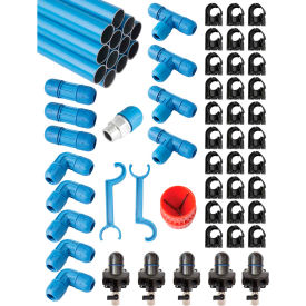 "fastpipe rapidair f28235, 1"" master kit 235 ft. 5 outlets Fastpipe Rapidair F28235, 1"" Master Kit 235 ft. 5 Outlets"