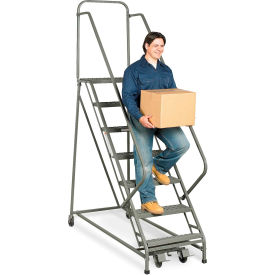 "Z009 EGA EZY-Climb Ladder 7-Step 19"" Wide Perforated, Gray 450Lb. Capacity - Z009"