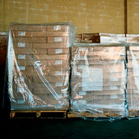 "30G-524873 LDPE Pallet Cover 73"" x 51"" for Pallet Size 48"" x 48"" x 48"" 3 Mil Clear 50 Pack"