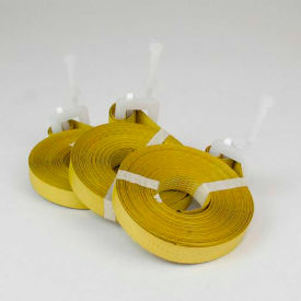 "encore pre-cut polypropylene strapping with plastic buckle, 1/2"" x 17, yellow, 500 straps Encore Pre-Cut Polypropylene Strapping With Plastic Buckle, 1/2"" x 17, Yellow, 500 Straps"