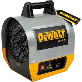 DXH330 DeWALT; Portable Forced Air Electric Heater  DXH330, 3300 Watt, 240V