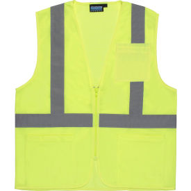 61648 Aware Wear; ANSI Class 2 Economy Mesh Vest, 61648 - Lime, Size L
