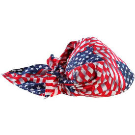12323 Ergodyne; Chill-Its; 6710 Evaporative Cooling Triangle Hat, Stars/Stripes, One Size