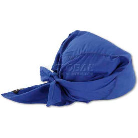 12327 Ergodyne; Chill-Its; 6710 Evaporative Cooling Triangle Hat, Solid Blue, One Size
