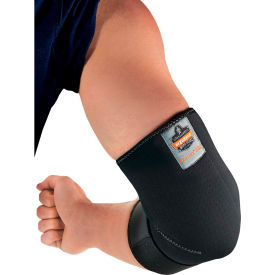 16583 Ergodyne; Proflex; 655 Neoprene Elbow Sleeve with Strap, Black, Medium