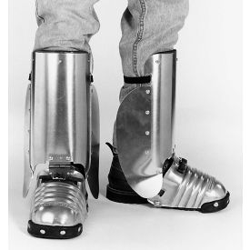 "ellwood safety foot-shin guards w/side shield, steel toe clip, leather strap, 5-1/2""w, large, 1 pair Ellwood Safety Foot-Shin Guards W/Side Shield, Steel Toe Clip, Leather Strap, 5-1/2""W, Large, 1 Pair"