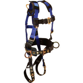 7073LX FallTech; 7073LX Foreman 3-D Full Body Harness, 3 D-rings, Size L/XL