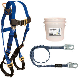 9500Z FallTech; 9500Z Starter Kit with 7015 Harness, 6 Shock Absorbing Lanyard & 2-Gallon Bucket