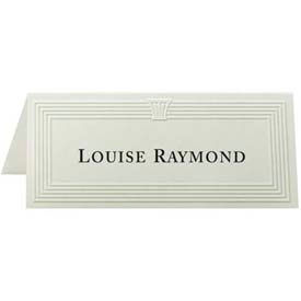 "first base overtures embossed place cards, 4-1/4"" x 1-3/4"", 47 lb, ivory, 60 sheets/pack First Base Overtures Embossed Place Cards, 4-1/4"" x 1-3/4"", 47 lb, Ivory, 60 Sheets/Pack"