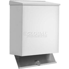 U590 A&J Washroom Sanitary Napkin Disposal U590, 1.6 Gallon, W/Keyed Access Panel, Surface Mounted