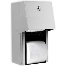 U840 A&J Washroom Dual Toilet Tissue Dispenser U840, Hooded W/Auto Reserve, Surface Mounted With Lock
