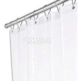 "UX250P-4872 A&J Washroom Shower Curtain UX250P-4872, 48""W x 72""H, Anti-Bacterial Vinyl"