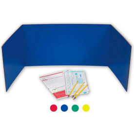 "flipside products study carrel, 48""w x 12""h, assorted colors, 24/pk"
