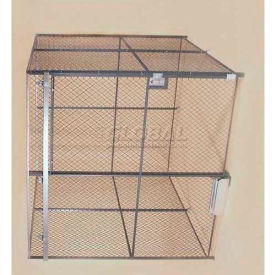 Wov-N-Wire™ Wire Mesh Pre-Designed, 4 Sided Room Kit, 10W X 10D X 8H, W/Slide Door