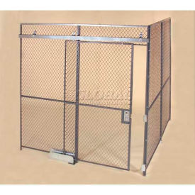 Wov-N-Wire™ Wire Mesh Pre-Designed, 2 Sided Room Kit, 20W X 10D X 8H, W/Slide Door