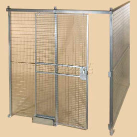 Qwik-Fence® Wire Mesh Pre-Designed, 2 Sided Room Kit, W/Roof 16W X 16D X 8H, W/Slide Door