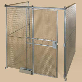 QWK16168-3 Qwik-Fence; Wire Mesh Pre-Designed, 3 Sided Room Kit, W/O Roof 16W X 16D X 8H, W/Slide Door