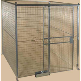 Qwik-Fence® Wire Mesh Pre-Designed, 4 Sided Room Kit, W/Roof 8W X 8D X 12H, W/Slide Door