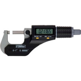 "54-870-001 Fowler 54-870-001 Xtra Value II 0-1"" IP54  Electronic Micrometer W/ Output & Stand"