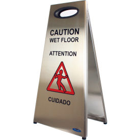 1119 Frost Stainless Steel Wet Floor Sign 1119