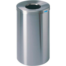 310S Frost Round Open Top Stainless Steel Waste Receptacle, 32 Gallon, 310S