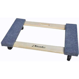 "milwaukee wood furniture dolly 33800 - carpeted ends - 30"" x 18"" - 1000 lb. capacity Milwaukee Wood Furniture Dolly 33800 - Carpeted Ends - 30"" x 18"" - 1000 Lb. Capacity"