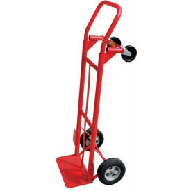milwaukee 2-in-1 convertible hand truck 35080 - solid rubber wheels - 600 lb. capacity Milwaukee 2-in-1 Convertible Hand Truck 35080 - Solid Rubber Wheels - 600 Lb. Capacity