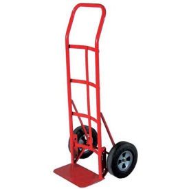 milwaukee hand truck 47107 - flow back handle - solid rubber wheels - 800 lb. capacity - red Milwaukee Hand Truck 47107 - Flow Back Handle - Solid Rubber Wheels - 800 Lb. Capacity - Red