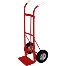 milwaukee hand truck 47132 - dual handle - solid rubber wheels - 800 lb. capacity - red Milwaukee Hand Truck 47132 - Dual Handle - Solid Rubber Wheels - 800 Lb. Capacity - Red