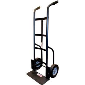 milwaukee heavy duty hand truck 60138 - dual handle - solid rubber wheels - 1000 lb. cap. - black Milwaukee Heavy Duty Hand Truck 60138 - Dual Handle - Solid Rubber Wheels - 1000 Lb. Cap. - Black