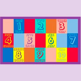 "numbers english & spanish mat - 36"" x 60"" Numbers English & Spanish Mat - 36"" x 60"""