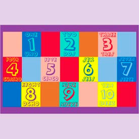 "numbers english & spanish mat - 48"" x 72"" Numbers English & Spanish Mat - 48"" x 72"""