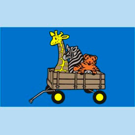 "animal wagon mat - 36"" x 60"" Animal Wagon Mat - 36"" x 60"""