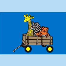 "animal wagon mat - 48"" x 72"" Animal Wagon Mat - 48"" x 72"""