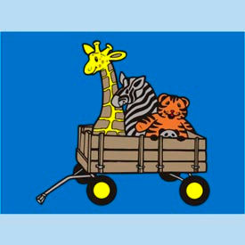 "animal wagon mat - 72"" x 96"" Animal Wagon Mat - 72"" x 96"""