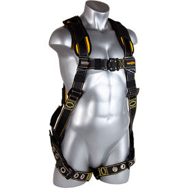guardian cyclone harness, quick connect chest, tongue buckle legs, m/l, 130-311 lbs capacity Guardian Cyclone Harness, Quick Connect Chest, Tongue Buckle Legs, M/L, 130-311 lbs Capacity