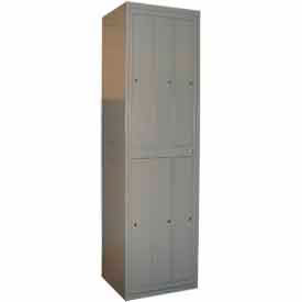 "george oday double tier 6 door garment locker w/cam lock,24-5/16""wx21-1/4""dx84-1/2""h,gray,assembled George ODay Double Tier 6 Door Garment Locker W/Cam Lock,24-5/16""Wx21-1/4""Dx84-1/2""H,Gray,Assembled"