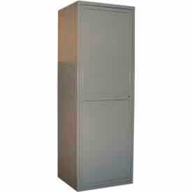 "george oday 2 door linen storage unit locker, 31""wx21-1/4""dx84-1/2""h, gray, assembled George ODay 2 Door Linen Storage Unit Locker, 31""Wx21-1/4""Dx84-1/2""H, Gray, Assembled"