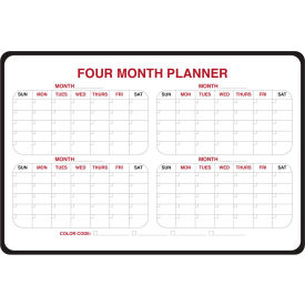 "984516 Ghent; 4-Month Dry Erase Planner, Non-Magnetic, 24"" x 36"""