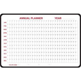 "984517 Ghent; Annual Dry Erase Planner, Non-Magnetic, 24"" x 36"""